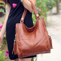 New 2015 Genuine Leather Women's Handbag Vintage Cowhide One Shoulder Messenger Bag For Women Hot Selling Leather Bags For Women