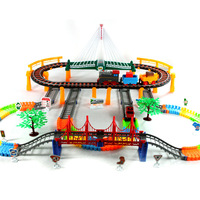 Ultralarge multi-layer acoustooptical rail car toy train thomas train track child electric toy train