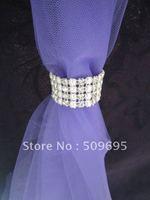 pearl&diamond curtain banding, wedding home decoration, party home decoration, sparkling curtain band LE-CR-25