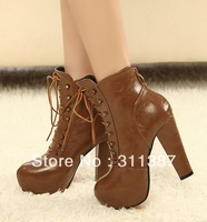 Holiday Sale, 2012 fashion Suede Spring&Autumn cross-belt Martin boots, boots for women SXZ05113