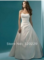 2014 Stock White and ivory Wedding Brides Dress size 6 8 10 12 14 16   LJ331