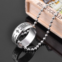 Bible titanium ring finger ring