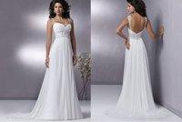 2014 Stock White Wedding Brides Dress size 6 8 10 12 14 16   LJ328