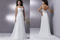 2014 Stock White Wedding Brides Dress size 6 8 10 12 14 16   LJ328