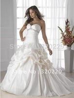 2014 Stock White Wedding Brides Dress size 6 8 10 12 14 16   LJ332