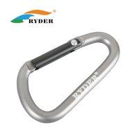 Free Shipping 5mm D-shape Aluminum Buckle Carabiner Clip Hook Climbing Mountaineering Metal Hook 50pcs/lot