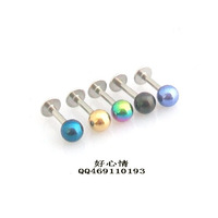 Anti-allergy 316l medical steel stud earring titanium ear 1.2mm single