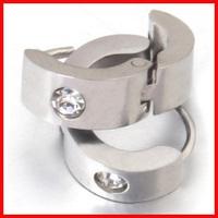 Diamond titanium ear buckle male stud earring glossy popular accessories punk birthday gift ornaments