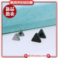Fashion medical steel triangle simple paragraph titanium stud earring titanium earrings earring gift