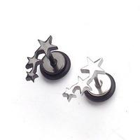 Titanium five-pointed star stud earring small stud earring earrings ear