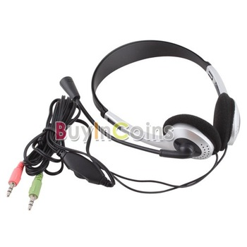 Earphone Headphone w/ Microphone MIC VOIP Headset Skype for PC Computer Laptop  #21228