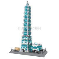 8019 TaiPei 101 without original box Enlighten Building Block Set 3D  Construction Brick Toys Educational Block compatible lego