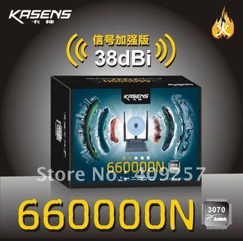 2PC=5%,Kasens 660000N High Power USB WiFi Wireless Network Adapter 3 Antenna WEP WPA Password Crack 3000mW 802.11b/g/n 150Mbps