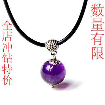 Natural amethyst pendant stone beads pendant accessories