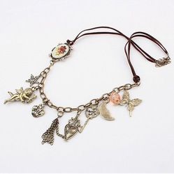 (Min order$10) Free Shipping!Korean retro fashion Cupid country exotic sweater chain!#946(China (Mainland))