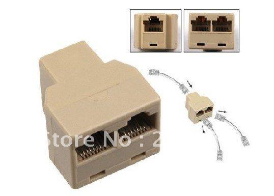 RJ45 LAN Splitter Combiner 1 to 2 Way Connector Adaptor With Package ...