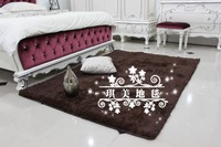 CA10904 Japanese style Carpet coffee color 100*100cm square 3cm hair length 1piece soft mat rug anti-slip handmade floor carpet