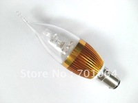3X3W    B15 LED candle bulb brightest   85V-265V AC  (warm &cold light)