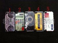 100PCS/LOT Retro Calculator Camera Cassette Hard Plastic Case For Ipod Touch 5  Free DHL