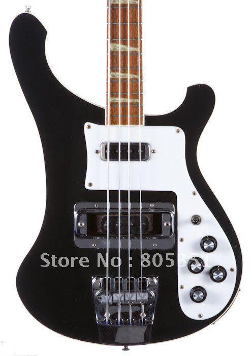 Wholesale Guitars Black Bass Electric Guitar Musical Instruments Free shipping Hot(China (Mainland))