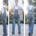 Bib pants female 2012 loose casual jumpsuit jeans all-match denim bib pants