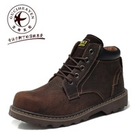 2013 fashion men's casual outdoor work tooling shoes crazy-horse leather upper,lace-up oxfords military combat ankle boots 39-44