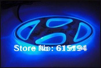 Синий цвет из светодиодов эмблемы логотип свет авто светодиодные лампы для Hyundai юэ дон