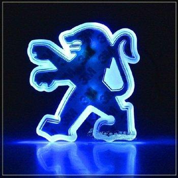 Синий цвет из светодиодов эмблемы логотип свет авто светодиодные лампы для Peugeot 207 307
