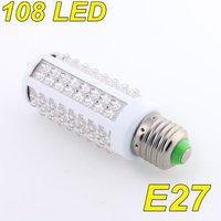 110V 7W 108 LED E27 Corn Light Lamp Cool White Energy Saving free shipping