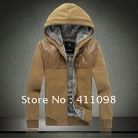 Free Shipping  Men's Fashion Overcoat  Men's Outerwear size:M-XXL black,red wine,Khaki,Green,LT Grey wholesale and Retail