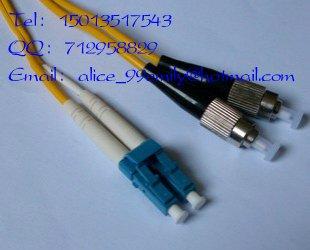 Fiber Optic Cable/Patch Cord LC/UPC to FC/UPC Duplex Fiber,SM,PVC,5 Meter, 5pcs/lot(China (Mainland))
