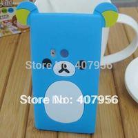 New Design Rilakkuma Lazy Bear Soft Back Case for Nokia N9 N9-00,With high quality,1pcs min order