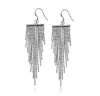 OYAG jewelry! Wholesale Genuine 925 Sterling Silver Tassel Elegant Women Drop earring.TOP quality.Free shipping.