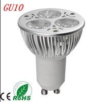 Free Shipping High Power GU10 9W 810LM AC 85-265V CREE LED Light Bulbs 3*3WATTS LED Lamp