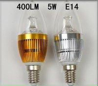 10pcs E14 5W LED Candle lighting / 5*1w energy-saving Crystal LED light bulb