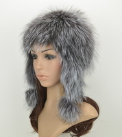Winter thermal fashion fox knitted millinery fur lei feng cap snow cap ear millinery