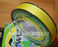 Retail packaging 1pcs 300YD 30LB Yellow 100% Spectra PE Braid fishing line