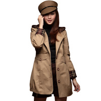 Free Shipping High Quality 2012 women plus size trench coat desigual outerwear fashion windbreaker coat medium-long trench S187