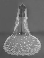 The bride mantilla super-long 3.5 m large flowers wedding accessories