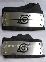 Naruto Leaf Village Black Headband Anime Cosplay