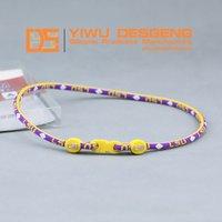 Hot Selling Health Sports LSU Titanium Necklace