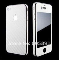 10pcs/lot Free Shipping Carbon Fiber Full Body Sticker protector skin for iPhone 5 5G 5TH Gen