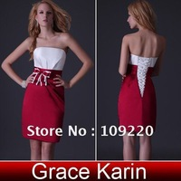 Платье для вечеринки Grace Karin Short Celebrity Cocktail wedding Evening Ball Formal party Prom dress 8 Size, Chiffon CL2513