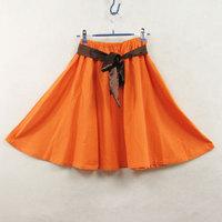 New Bust  half  medium  cotton linen  bohemia short  orange elegant Free Shipping