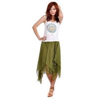 New Irregular bust  chiffon skirts summer bohemia medium  short  Skirt Free Shipping