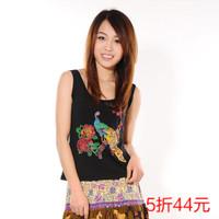 New 2013 summer new arrival women's modal small vest spaghetti strap Women fashion slim beading Free Shipping