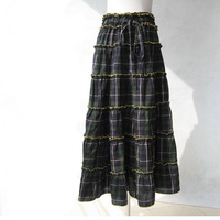 New Patchwork long skirt national trend fashion expansion skirt 100% cotton 2012 Free Shipping