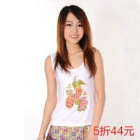 New Modal small vest spaghetti strap Women fashion slim beading white Free Shipping