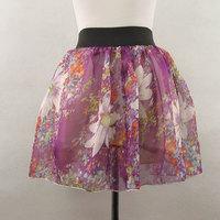 New All-match puff skirt basic skirt chiffon short skirt bust skirt lining Free Shipping