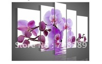 whiter Purple orchid oil paintings on canvas home decoration Modern abstract Oil Painting wall art Natural scenery flowers